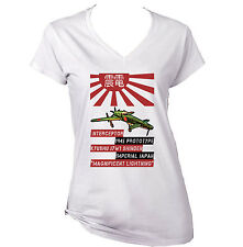 KYUSHU J7W1 SHINDEN - NEW WHITE COTTON LADY TSHIRT
