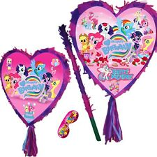 My Little Pony Birthday Pinata set Girls Kids Smash Party Fun Unicorn Poney Red