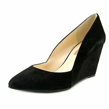 INC International Concepts Womens ZARIE Pointed Toe Leather Wedge Pumps