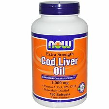 Now Foods COD LIVER OIL 1,000MG 180 SGELS