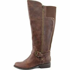 G by Guess Womens HAILEE Leather Closed Toe Knee High Riding Boots