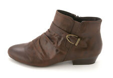 Kim Rogers Womens Tallon Leather Almond Toe Ankle Fashion Boots