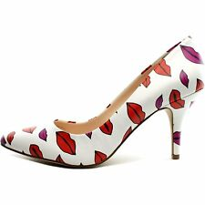 INC International Concepts Womens Zitah Lip White Pointed Toe Classic Pumps