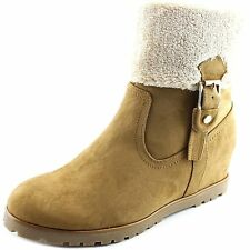 Tommy Hilfiger Womens Soffia Faux Fur Closed Toe Mid-Calf Cold Weather Boots