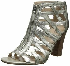 Franco Sarto Womens Julisa Leather Open Toe Special Occasion Ankle Strap Sand...