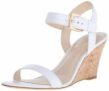 Nine West Womens Kiani Leather Open Toe Casual Ankle Strap Sandals