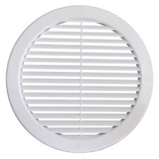 """White Circle Air Vent Grille 125mm / 5"""" Round Ducting Ventilation Cover Grid"""