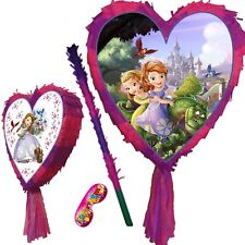 Sofia the first Pinata set Smash Party Fun Stick Pink birthday 1st amber Disney