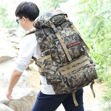 80L Camouflage Mountaineering Bags Outdoor Camping Hiking Trekking Large