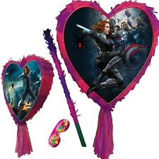 Black widow Pinata Smash Party Stick birthday spider super hero avengers Natasha