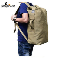 Multifunctional Military Tactical Canvas Backpack Men Male Big Army Bucket Bag