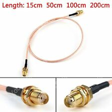 RG316 Cable SMA Hembra Jack To SMA Hembra Jack Mamparo Jumper Pigtail