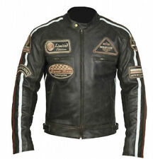 MOTO Giacca in pelle,MOTOCICLISTA Club Giacca,chopper ROUTE 66 PELLE jacke.biker