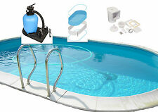 Piscina de acero ovalpool Pared Pool Set inicio OVAL h150cm versch.größen