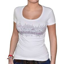 GUESS - T SHIRT MANCHES COURTES - FEMME - W03450 - GUESS - PAMMIE - BLANC NEUF