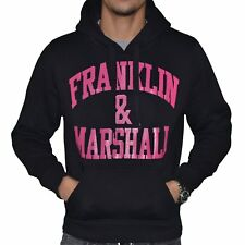 FRANKLIN MARSHALL  SWEAT À CAPUCHE  HOMME  FM SWEAT  NOIR ROSE NEUF GRADE A