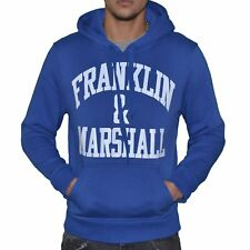 FRANKLIN MARSHALL  SWEAT À CAPUCHE  HOMME  FM SWEAT  BLEU BLANC NEUF GRADE A