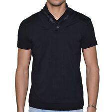DOGER WEAR - T SHIRT MANCHES COURTES - HOMME - SD 81 COL ECHARPE - NOIR NEUF