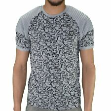 LCR - T-SHIRT MANCHES COURTES - HOMME - LCR650 - GRIS CHINÉ NEUF