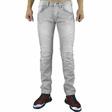 ONE TWO ONE TWO  JEAN  HOMME  QF5101  SKINNY FIT STRETCH  GRIS DÉLAVÉ NEU GRADE
