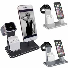 Soporte Dock Base Charging de Carga Cargador para AirPods iPhone X 8 Apple Watch