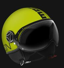 CASCO MOMO DESIGN FIGHTER GIALLO FLUO FROST NERO