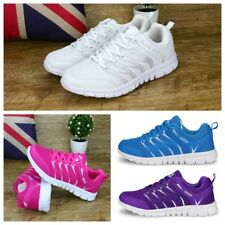 New Womens Ladies Sport Shoes Comfy Flat Breathable Running Trainers Shoes Size