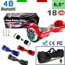 6,5'' HOVERBOARD 18 LUCI LED BLUETOOTH + BORSA DUEL MOTORE SMART SCOOTER WO