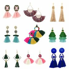 Fashion Jewellery Girls Pearl Party Dangle Studs Tassel Earrings for Women