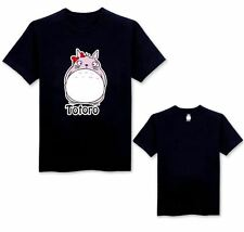 Anime My Neighbour Totoro Studio Ghibli Black Logo Black T-Shirt