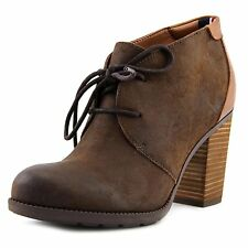 Tommy Hilfiger Womens Duff Leather Closed Toe Ankle Fashion Boots