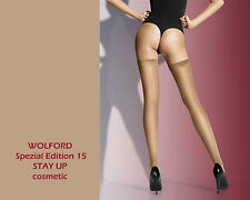 Wolford Spec. Edit. 15 STAY UP • XS-L • cosmetic • hochtransparente Strümpfe