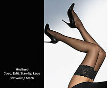 Wolford Spec. Edit. 15 STAY UP Lace • black • hochtransparente Strümpfe