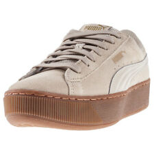 Puma Vikky Platform Womens Grey Suede & Synthetic Casual Trainers Lace-up