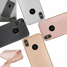 For iPhone 8/Plus/X shockproof soft TPU phone case carbon fiber pattern rubber