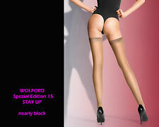 Wolford Spec. Edit. 15 Stay-Up • nearly black •XS • hochtransparente Stay Up´s