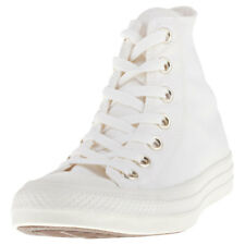 Converse Chuck Taylor All Star Hi Womens Beige Canvas Casual Trainers Lace-up