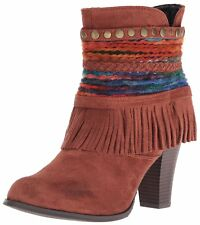 DOLCE by Mojo Moxy Womens Bronco Closed Toe Ankle Cowboy Boots
