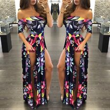 Femmes Sexy Bodycon Romper Robe Party Bandage Jumpsuit Playsuit Long Maxi Dress