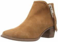 STEVEN by Steve Madden Womens Doris Leather Almond Toe Ankle Fashion Boots