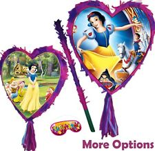 Snow White Pinata Smash Party Stick Disney Princess Seven Dwarfs Heart apple UK