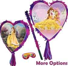 Belle Heart Pinata Smash Party Stick Disney Princess Beauty and the Beast UK New