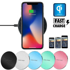 Qi Wireless Charger Charging Induktion Ladegerät für iPhone X 8Plus Note8 S8Plus