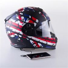 VIPER rs-v8 AUDIO CASCO MOTO CASCHI SPEAKER MATT Union Jack