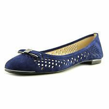 Vince Camuto Womens Celindan Leather Closed Toe Slide Flats