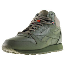 Reebok Classic Leather Mid Twd Hommes Baskets Green Neuf Chaussure