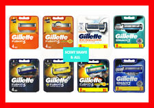 Gillette Razor Blades - Fusion ProGlide ProShield Mach3 Power Turbo 100% Genuine
