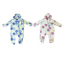 First Steps super weiches Fleece All-in-One Baby Anzug mit Abdeckhaube