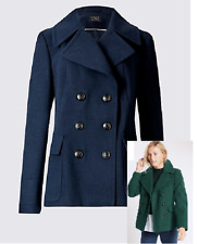 M&S Collection Emerald Double Breasted Peacoat / Jacket UK size 10 / EUR 38