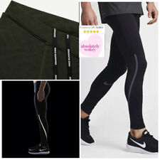 Nike Power City Running Gym Compression Football Training Tights Black
